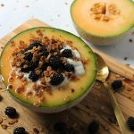 This Cantaloupe Yogurt Granola Bowl is the Perfect Light Summer Breakfast