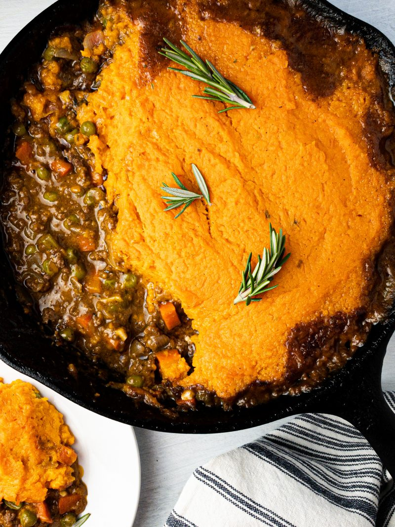 Healthy Sweet Potato Shepherd's Pie