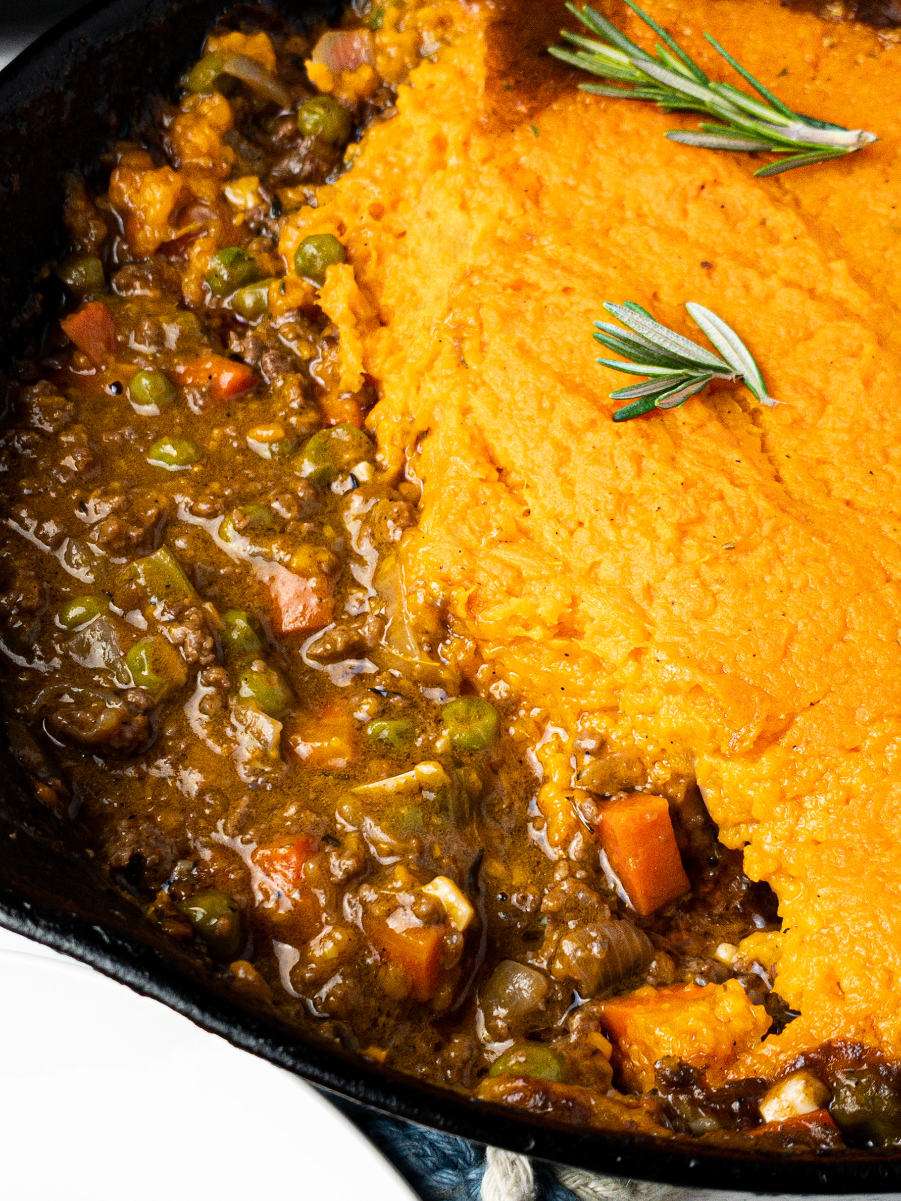 healthy sweet potato shepherds pie